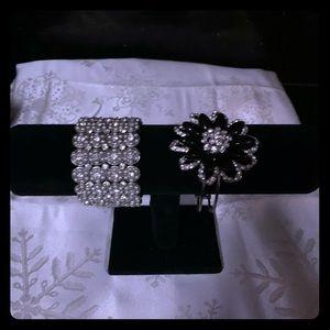 Silver costume bracelets